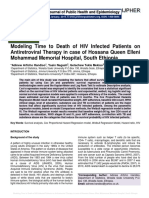 Modeling Time to Death of HIV Infected Patients on Antiretroviral Therapy in case of Hossana Queen Elleni Mohammad Memorial Hospital, South Ethiopia
