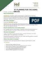 Guardianship Planning Brochure