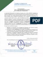 APDHLP rechaza versión de Embajada de Venezuela en Bolivia