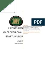 Bases Del Concurso Macrorregional STARTUP UNCP