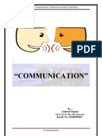 COMMUNICATION-Communication, Client Interviewing& Counselling