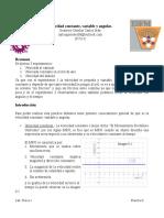 Practica 6 Velocidad Consatante, Variable y Angular