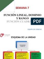 Función Lineal - Dominio y Rango