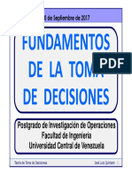 Fundamentos de La Toma de Decisiones
