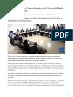 17-01-2019 Pretende la SEC en Sonora fortalecer la Educación Media Superior en este año - TV Pacifico