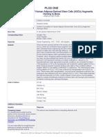 Tian, Plagiarism Plos One Adipocyte Gps 2013