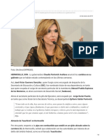21-01-2019 Claudia Pavlovich anuncia cambios en gabinete - Expreso