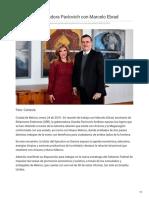 24-01-2019 Se reúne gobernadora Pavlovich con Marcelo Ebrad - El Sol de Hermosillo
