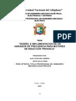 Tesis - Diseño, e Implementacion de Un Variador de Frecuencia Para Motores de Inducción Trifasica