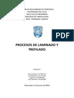 Procesos de Laminado y Trefilado PROCESOS DE FABRICACIÓN EN INGENIERÍA