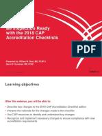 CAP Checklist 110718