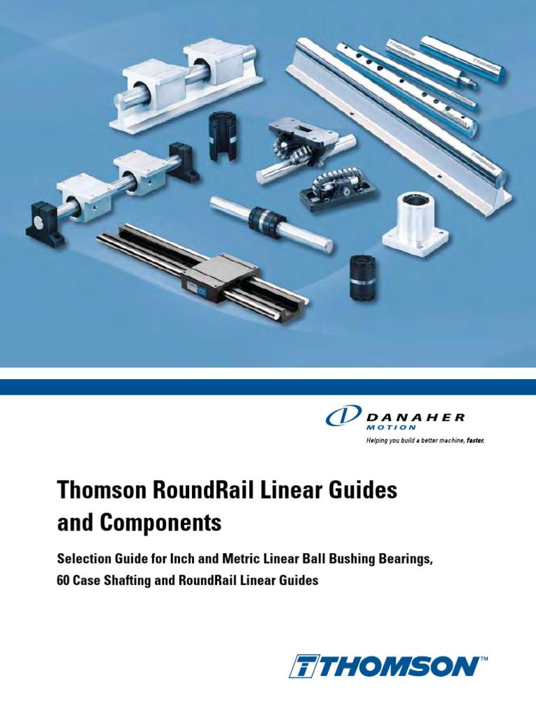 "Thomson A4812 Precision Steel Ball Bushing Bearing 0.25/"" Bore; Fixed Diameter"