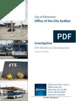 City of Edmonton ETS investigation