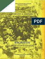 Vol 76. ArtÃ_culos y Ensayos, Escritos 2. Mariano a Cestero.