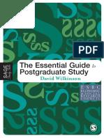 David Wilkinson-The Essential Guide to Postgraduate Study (Sage Study Skills Series) (2005).pdf