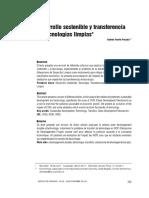 Desarrollo Sostenible y Transferencia de Tecnologias Limpias