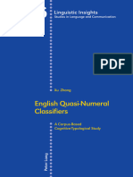 (Linguistic Insights) Xu Zhang - English Quasi-Numeral Classifiers_ a Corpus-Based Cognitive-Typological Study-Peter Lang AG (2017)