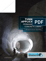 Brochure - Tunnelling Applications_Permanent Spray Concrete Lining