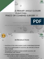 Cataract and PACG