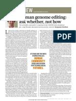 human genome editing