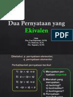 K 2 Aljabar Proposisi (Tautologi)