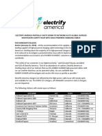 Electrify America Announcement on Partial Network Shutdown 1.25.2019