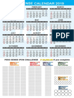 PesoSense Ipon Challenge 2019 Calendar