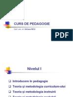 Pedagogie 1_curs_6_Curriculum - Delimitari Conceptuale