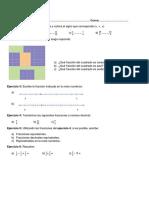 Evaluación de Matemática Primer Año