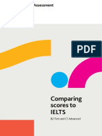 Comparing Cambridge English scores to IELTS