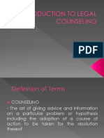 Introduction to Legal Counseling
