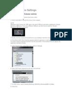 DAW Software Settings