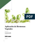 Aplicación de Hormonas Vegetales
