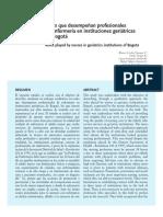 Roles Desempenan Profesionales Enfermeria Instituciones Geriatricas Bogota