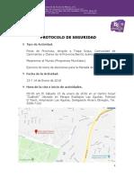 Protocolo de Seguridad Foros 13 y 14-01-18