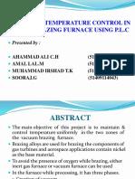 Automatic Temperature Control in Furnace Using PLC