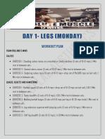 Leg day plan