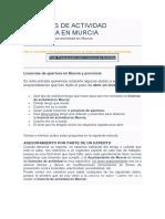 Licencias Actividad Murcia