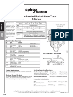 Cast Iron Inverted Bucket Steam Trap B Series-Technical Information