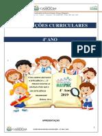 ORIENTAÇÕES CURRICULARES 4° ANO 2019