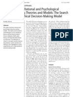 Decision-Making Theories and Models