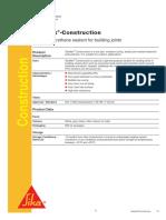 Sika Construction Data Sheet