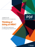 Ambition Special Edition Thinking About Doing an MBA