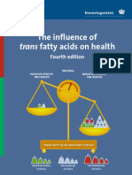 The Influence of Trans Fatty Acids on Health