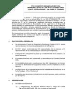 1. Procedimiento Elecciones Del CSST en AGROMAR S.A