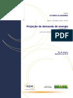 Projeção da demanda de energia elétrica