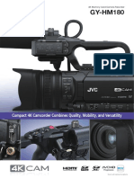 GY-HM180U 4KCAM COMPACT HANDHELD CAMCORDER w/INTEGRATED 12X LENS