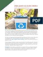 Cum Să Reciclăm Pentru Un Mediu Sănătos