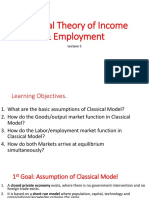 Classical Theory of Income & Employment (Lecture -5)