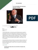 Temer perdoou R$ 47,4 bi de dívidas de empresas, maior anistia em 10 anos - 21_01_2019 - UOL Economia